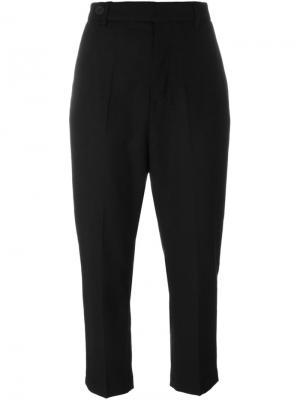 Укороченные брюки Rick Owens. Цвет: чёрный