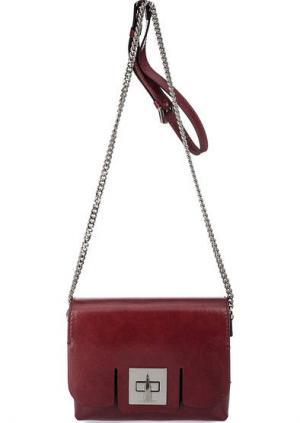 Красная кожаная сумка через плечо Gianni Chiarini. Цвет: красный