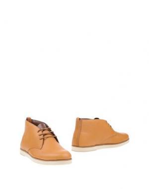 Полусапоги и высокие ботинки BOXFRESH. Цвет: желто-коричневый