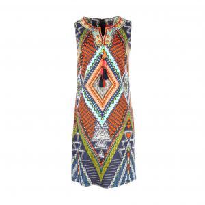 Платье короткое без рукавов RENE DERHY. Цвет: рисунок разноцветный
