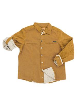 Рубашка Pilota. Цвет: горчичный