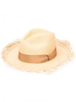 Шляпа Panama Frayed Sensi Studio. Цвет: телесный