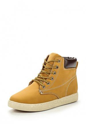 Ботинки T.P.T. Shoes. Цвет: горчичный