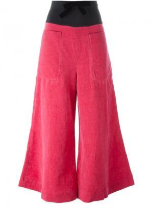 Расклешенные брюки Ter Et Bantine. Цвет: розовый и фиолетовый
