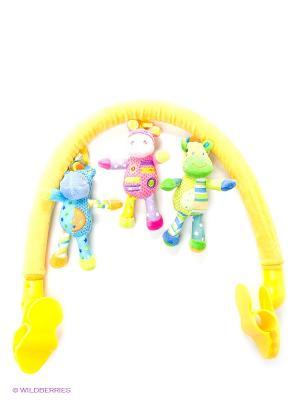 Погремушка Дуга Amico. Цвет: желтый, голубой, оранжевый, розовый