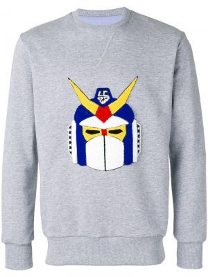 Robot patch sweatshirt Lc23. Цвет: серый