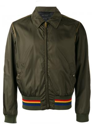 Куртка с контрастной полосой Marc Jacobs. Цвет: зелёный