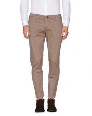 Повседневные брюки DERRIÉRE. Цвет: светло-коричневый
