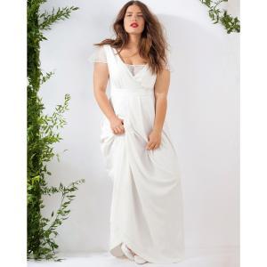 Длинное свадебное платье CASTALUNA. Цвет: слоновая кость