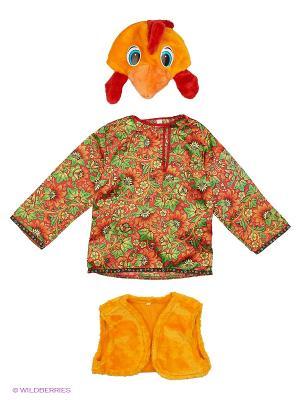 Карнавальный костюм Петушок Петруша Батик. Цвет: желтый