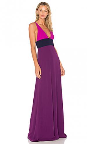 Вечернее платье с колорблок JILL STUART. Цвет: фиолетовый