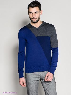 Пуловер 18CRR81 CERRUTI. Цвет: синий, серый