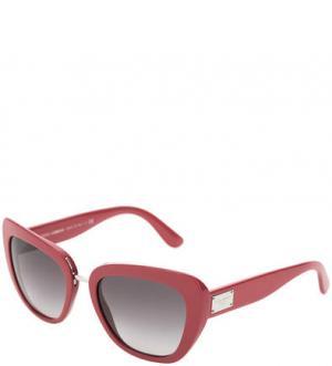 Очки с пластиковой оправой цвета фуксии Dolce & Gabbana. Цвет: фуксия