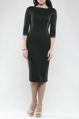 Платье MAURINI. Цвет: черный, темно-бирюзовый