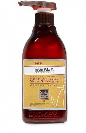 Восстанавливающий шампунь для поврежденных волос Damaged Repair Saryna Key. Цвет: бесцветный