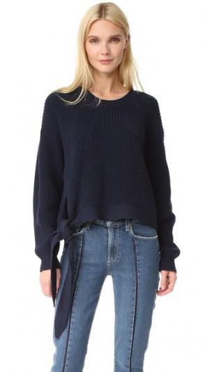 Пуловер Gabriela с завязками Designers Remix. Цвет: темно-синий