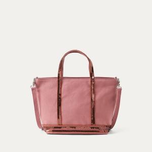 Сумка CABAS BABY из ткани с блестками ATHE VANESSA BRUNO. Цвет: розовый