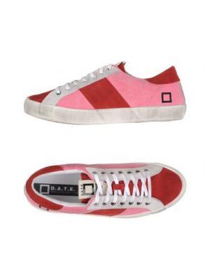 Низкие кеды и кроссовки D.A.T.E.. Цвет: розовый