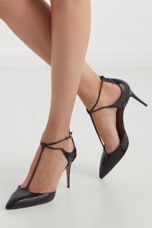 Туфли из лакированной кожи Scarlet Pump Aquazzura. Цвет: none