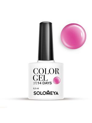 Гель-лак Color Gel Тон Lollipops SCG063/Сладости SOLOMEYA. Цвет: розовый