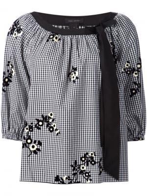 Блузка с цветами Marc Jacobs. Цвет: чёрный