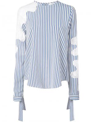 Полосатая блузка Robert Rodriguez. Цвет: синий