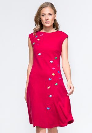 Платье YuliaSway Yulia'Sway. Цвет: красный