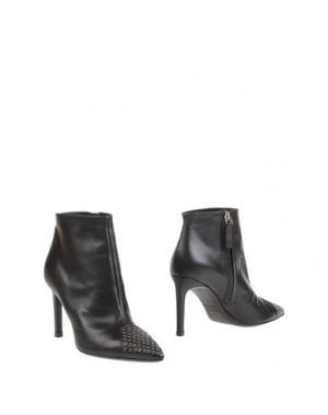 Полусапоги и высокие ботинки KALLISTÈ. Цвет: темно-коричневый