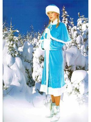 Карнавальный костюм Снегурочка МарТекс. Цвет: голубой, белый