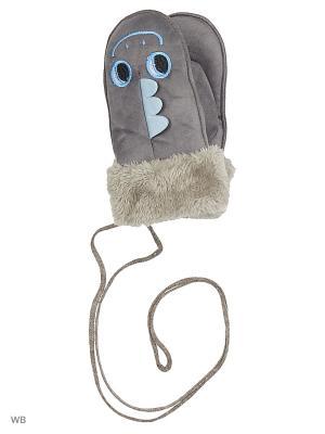Варежки Mini. Цвет: серый