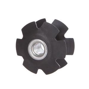 Болты  1/8 Star Nut 6mm Black Threat. Цвет: черный