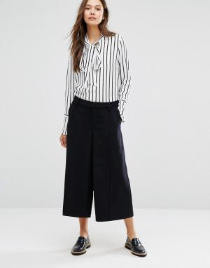 Gestuz Юбка‑шорты с широкими штанинами. Цвет: темно-синий