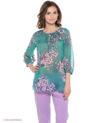 Блузка Baon. Цвет: зеленый