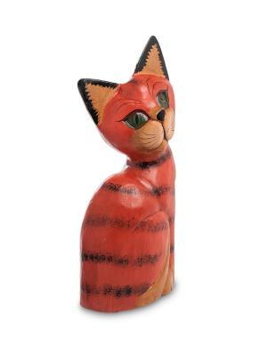 Статуэтка КОШКА рыжая 30 см. Decor & gift. Цвет: красный