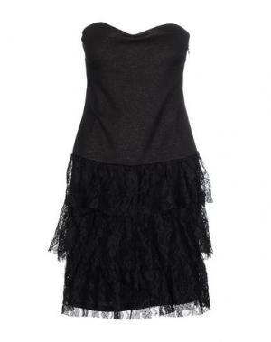 Короткое платье MORGAN DE TOI. Цвет: черный