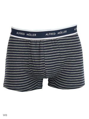 Трусы Alfred Muller. Цвет: серый, синий