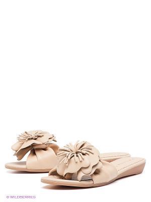 Шлепанцы Felina shoes. Цвет: бежевый