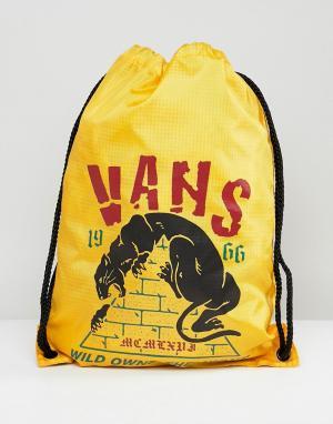 Vans Желтый рюкзак с затягивающимся шнурком League V002W6PHY. Цвет: желтый