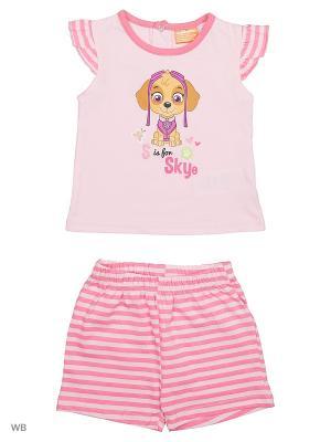 Комплект футболка, шорты Sun City. Цвет: розовый