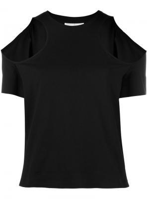 Блузка с открытыми плечами Courrèges. Цвет: чёрный