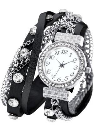 Наручные часы-браслеты Майри (черный) bonprix. Цвет: черный