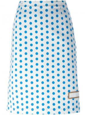 Джинсовая юбка в горох J.W.Anderson. Цвет: синий
