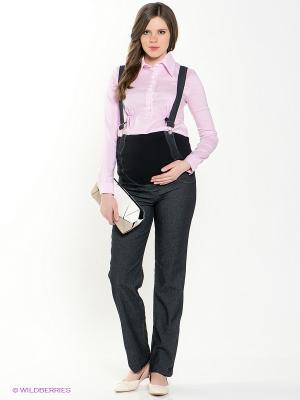 Комбинезон для беременных под джинсу 40 недель. Цвет: черный
