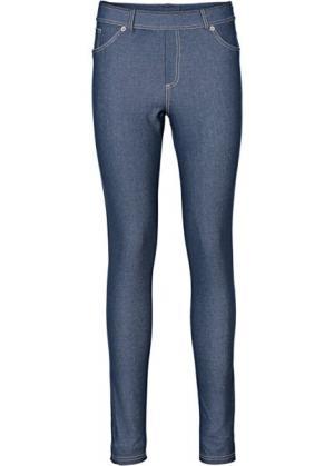 Легинсы в джинсовом дизайне (синий «потертый») bonprix. Цвет: синий «потертый»