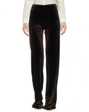 Повседневные брюки TO BE. Цвет: темно-коричневый