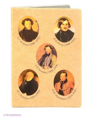 Обложка для паспорта Mitya Veselkov. Цвет: бежевый