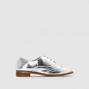Ботинки-дерби на шнуровке R kids. Цвет: серебристый