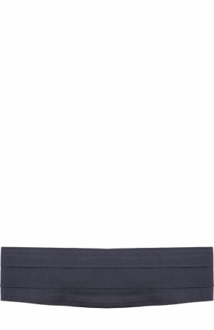 Шелковый камербанд Canali. Цвет: темно-синий
