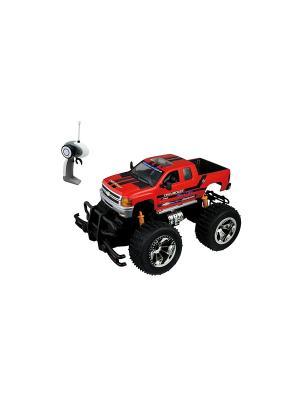 Р/у 1:18 2010 Chevrolet-Silverado Машина на батарейках, в коробке AULDEY. Цвет: красный, черный