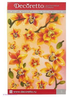 Желтые орхидеи DECORETTO. Цвет: желтый, оранжевый